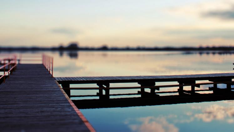 A dock gives us access to the water