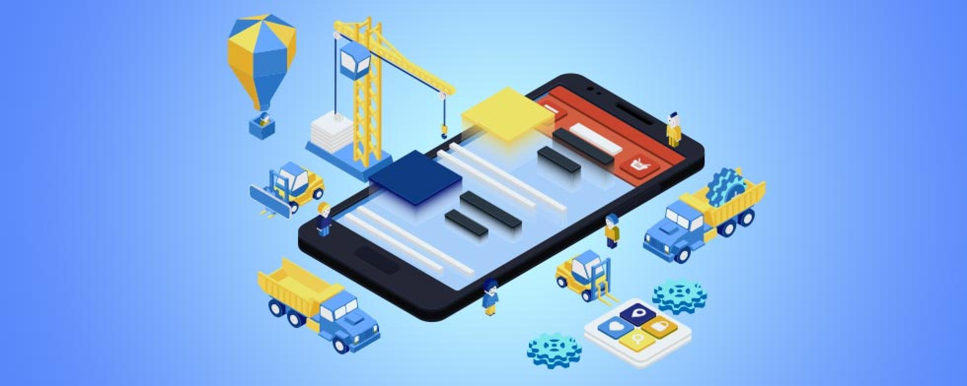 Illustration on building a mobile phone page